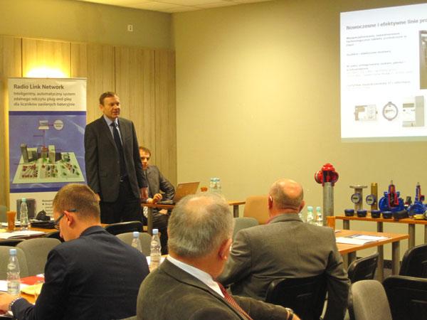 Ofertę firmy Kamstrup przedstawia prezes p. Krzysztof Piekarski